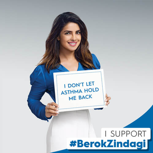 Let's come together to eliminate the stigma surrounding asthma. Add this frame to your profile picture to support #BerokZindagi.
